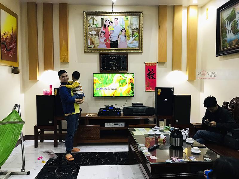 dàn karaoke gia đình anh Quảng tại Bắc Ninh