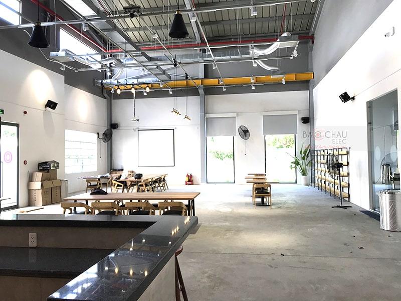 Lắp bộ dàn âm thanh cho quán cafe Trần Q ở Nhơn Trạch, Đồng Nai