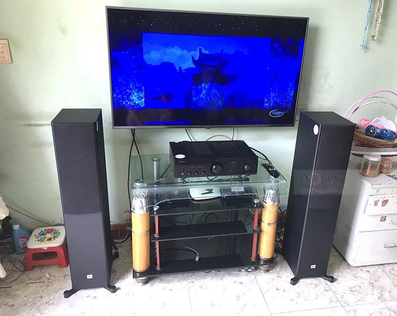 Dàn nghe nhạc của gia đình anh Tài tại Đồng Nai