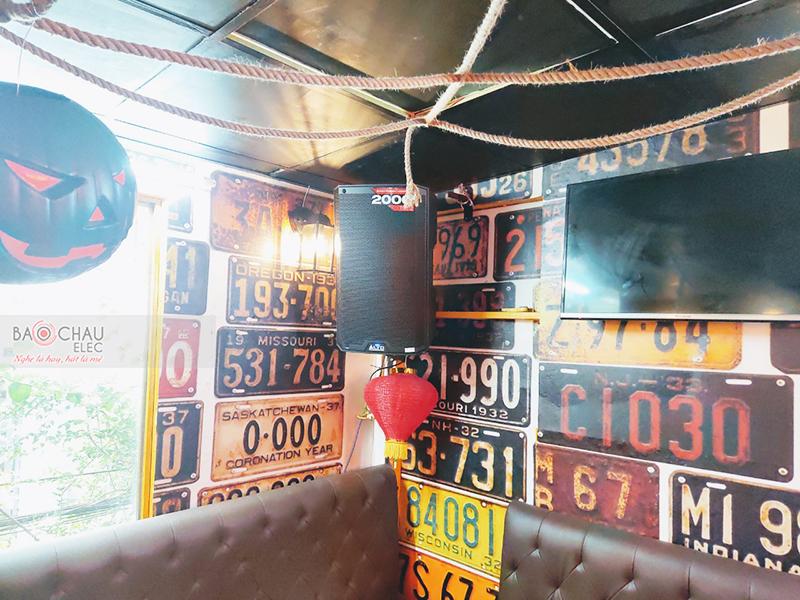 hệ thống âm thanh Quán mini pub của anh Hồ
