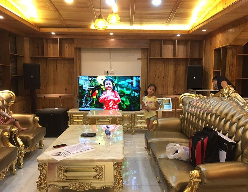 Dàn karaoke gia đình cao cấp của anh Thanh ở Vinhome h11