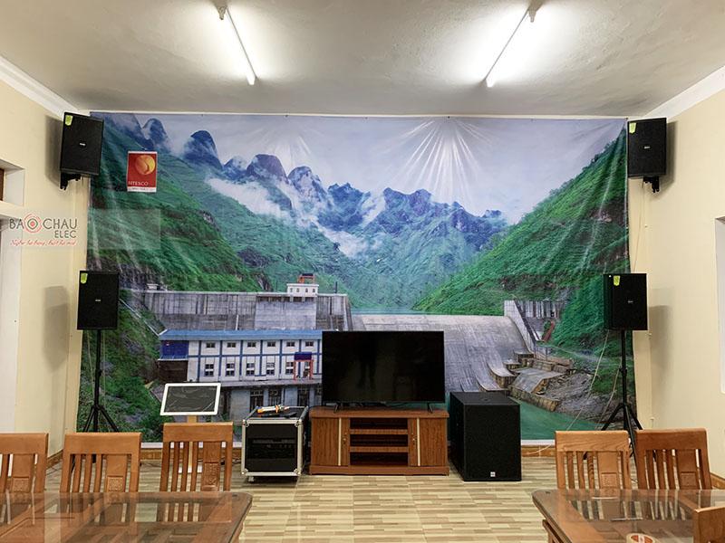 Lắp đặt dàn âm thanh hội trường nhà ăn Nhà máy Thuỷ điện Nho Quế - Hà Giang
