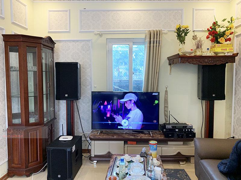 Dàn karaoke gia đình anh Long tại Hà Nội