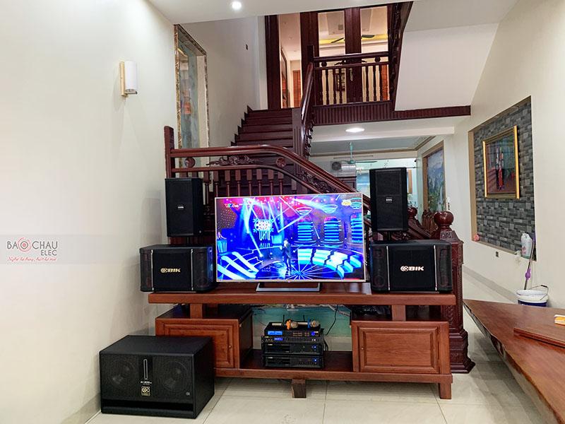 Dàn karaoke gia đình anh Trọng tại Hưng Yên