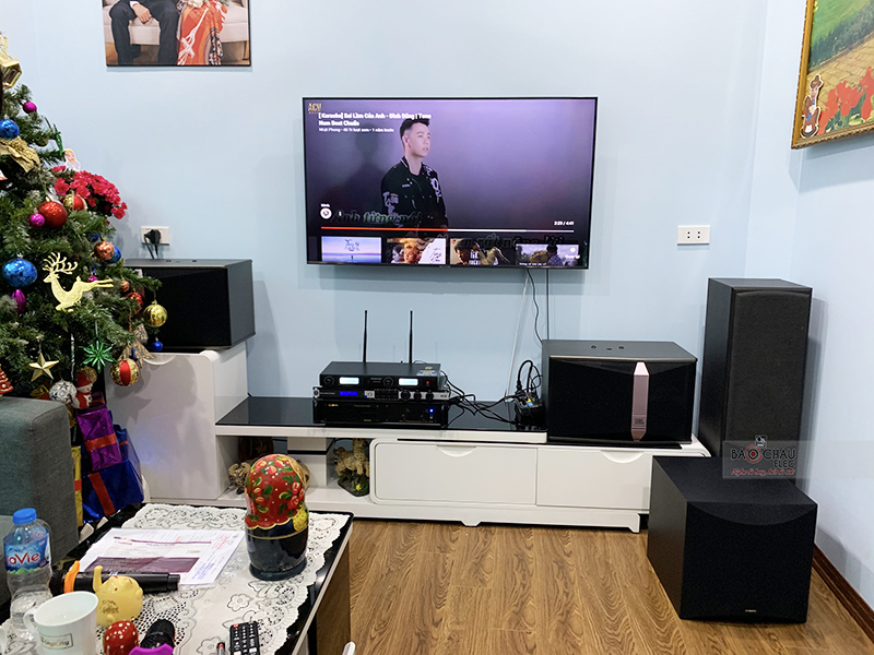 Dàn karaoke gia đình chị Hà h4