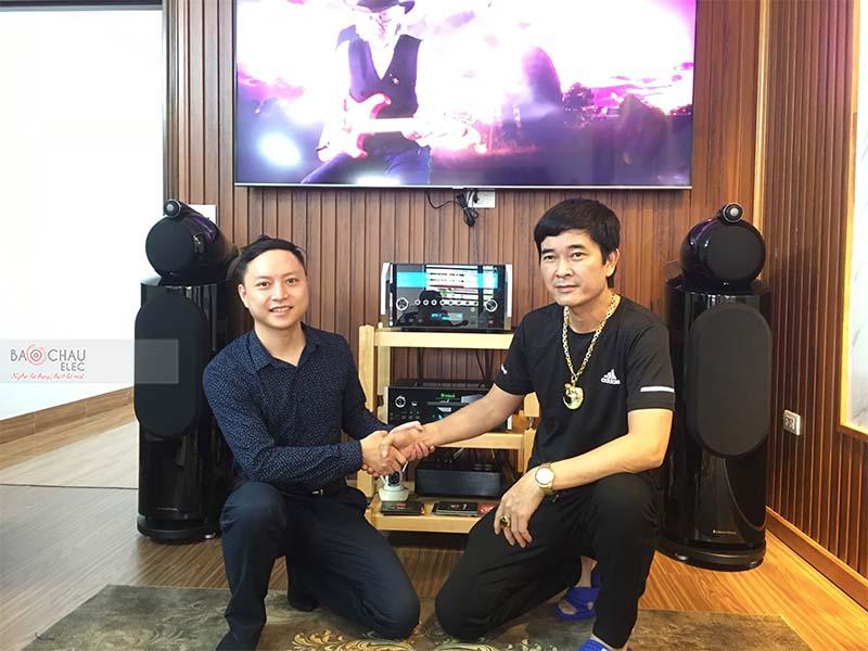 Lắp đặt dàn nghe nhạc Hi-end cho anh Phương tại TP Hòa Bình (B&W 802D3, Mcintosh MA12000, MCD 600)
