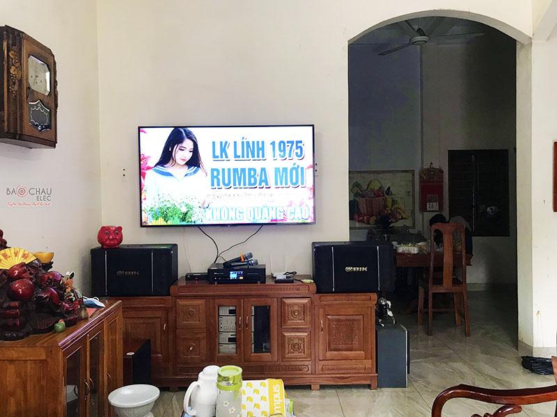 Dàn karaoke gia đình anh Việt tại Hưng Yên