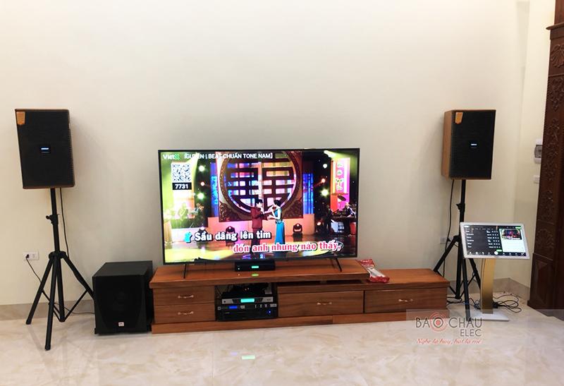 Dàn karaoke gia đình anh Khoa tại Thái Bình