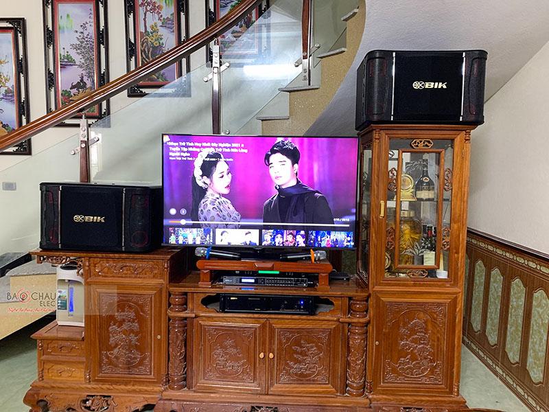 Dàn karaoke gia đình anh Hiền tại Thanh Hóa