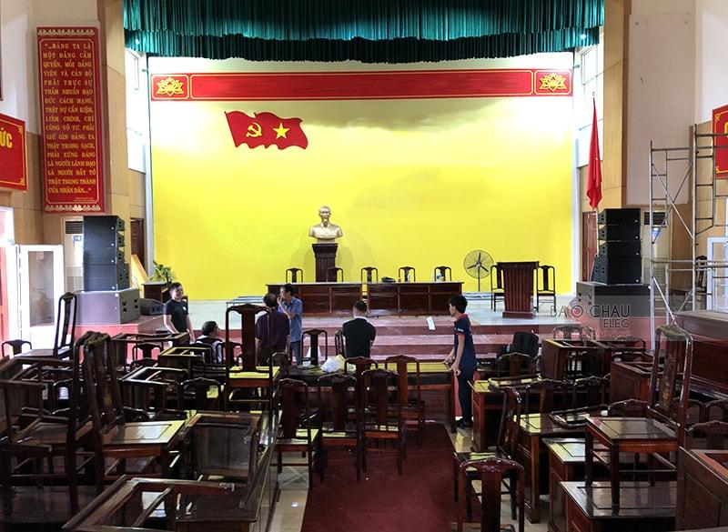 Dàn Line Array Alto hội trường tại Thanh Hóa