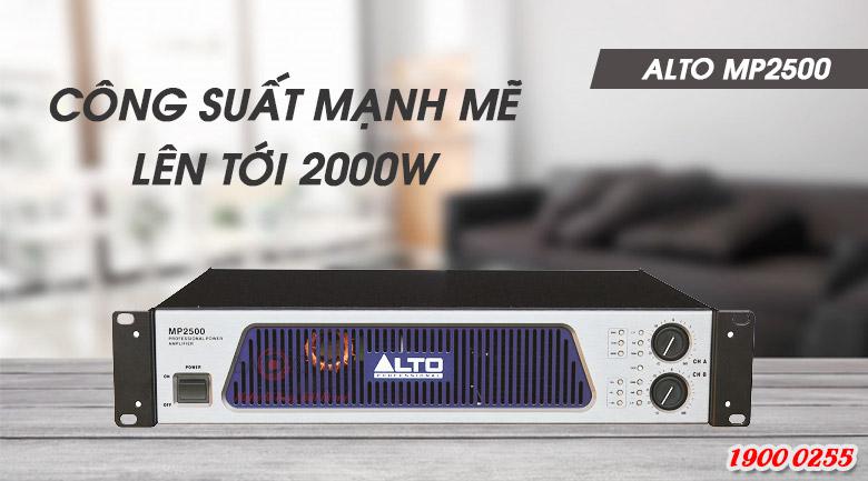 Cục đẩy Alto MP 2500 khả năng khuếch đại âm thanh mạnh mẽ