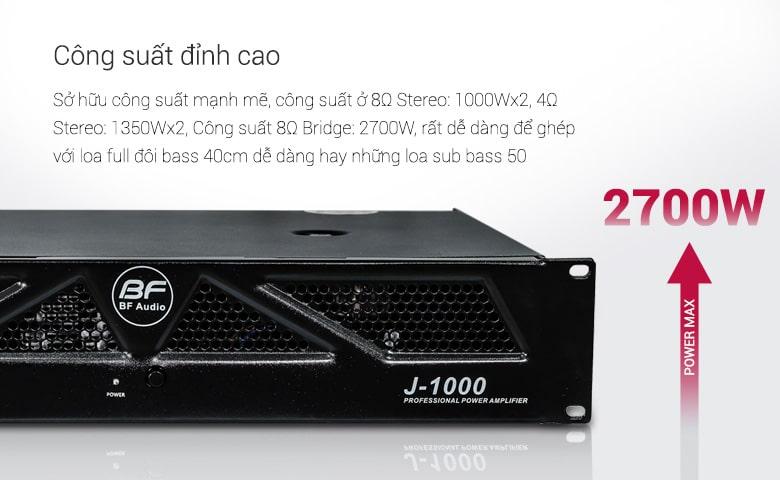 Cục đẩy BF J1000 có công suất 2700W