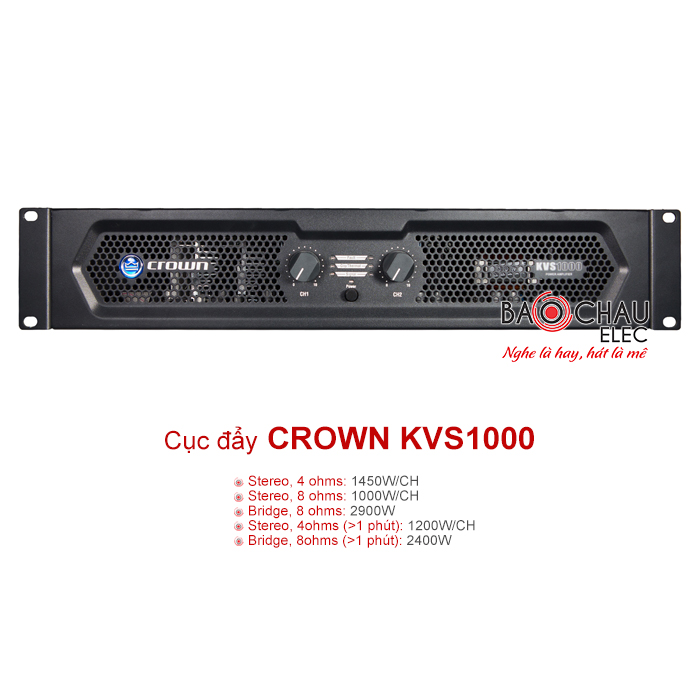 Cục đẩy công suất Crown KVS1000