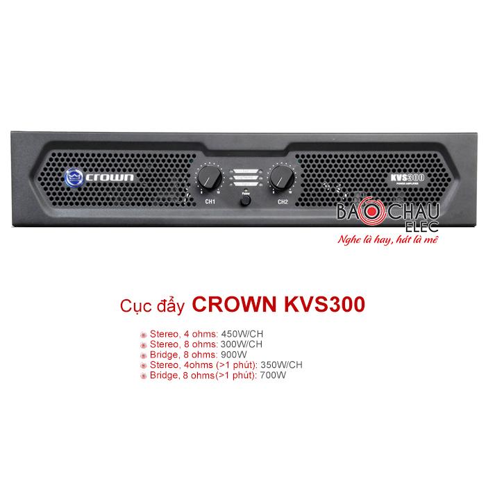 Cục đẩy công suất Crown KVS300 chính hãng, giá tốt nhất tại Bảo Châu Elec