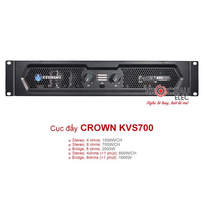 Cục đẩy công suất Crown KVS700 chính hãng, giá rẻ nhất thị trường