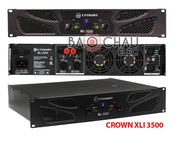 Cục đẩy công suất Crown Xli 3500 chính hãng, giá rẻ