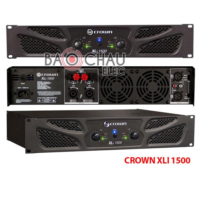 Cục đẩy công suất Crown Xli 1500 chính hãng, giá rẻ