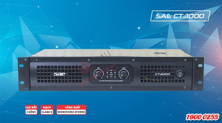 Cục đẩy công suất SAE CT3000 chất âm sống động, giá rẻ nhất