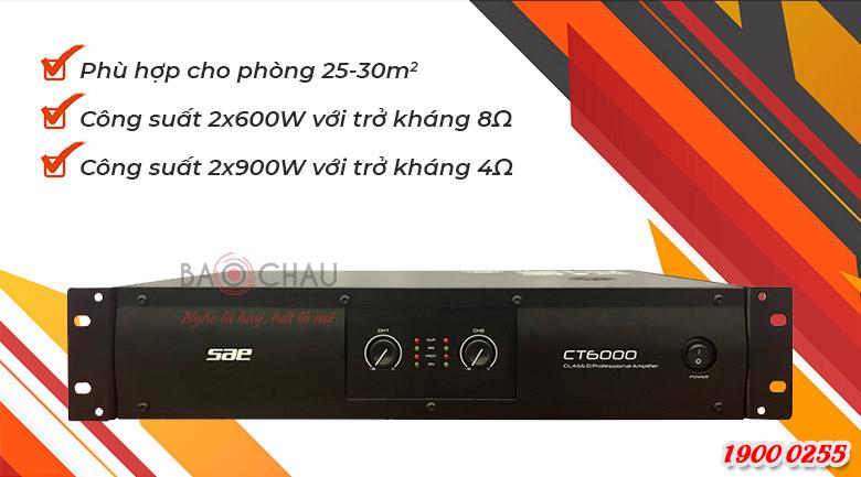 Cục đẩy công suất SAE CT6000 chính hãng, giá tốt