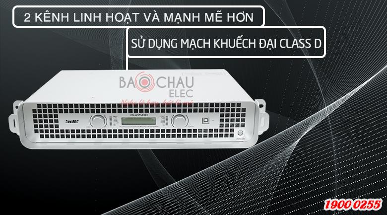 Cục đẩy SAE Duo500 trang bị mạch Class D