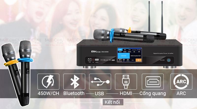 Digital Karaoke Power Amplifier BKSound DKA 6500 sức mạnh vượt trội