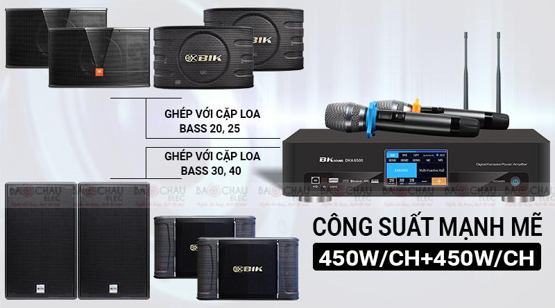 Digital Karaoke Power Amplifier BKSound DKA 6500 công suất mạnh mẽ