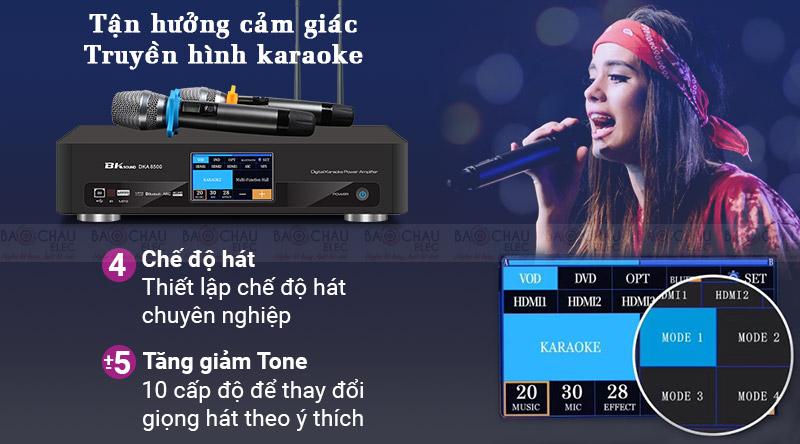 Digital Karaoke Power Amplifier BKSound DKA 8500 hiện đại, giá rẻ
