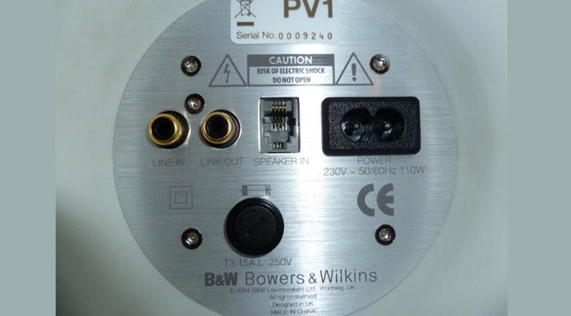 Loa B&W PV1D (Sub) hệ thống cổng kết nối đa dạng