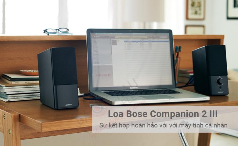 Loa Bose Companion 2 III Sự kết hợp hoàn hảo với với máy tính cá nhân