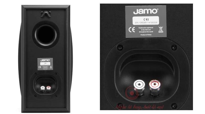 Loa Jamo C93 trang bị cổng thoát hơi ở mặt sau