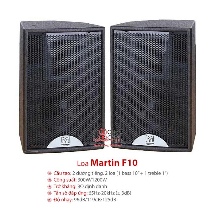 Loa sân khấu Martin F10 giá rẻ, công suất lớn