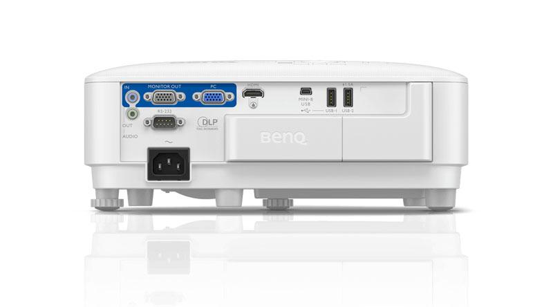 Máy chiếu BenQ EX600 với hệ thống cổng kết nối tiện lợi