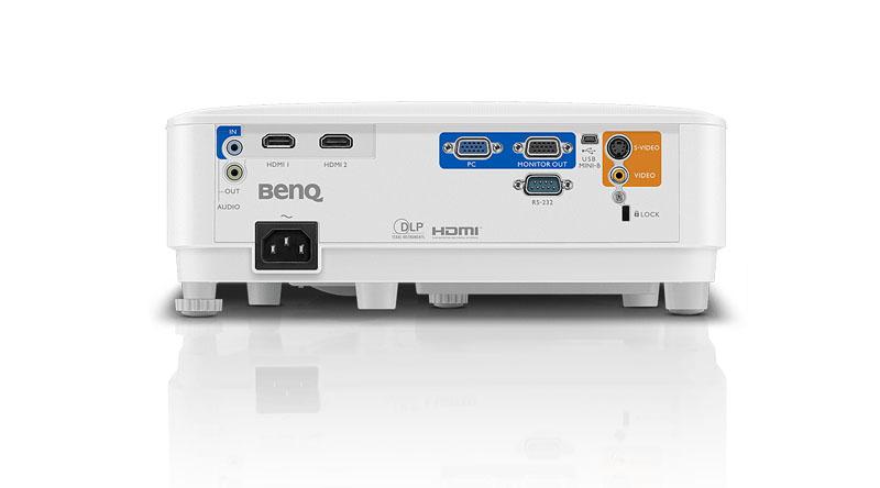 Máy chiếu BenQ MX550 với hệ thống cổng kết nối đa dạng