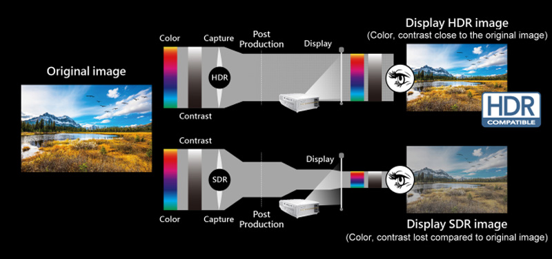 Máy chiếu Optoma UHD51A tương thích HDR