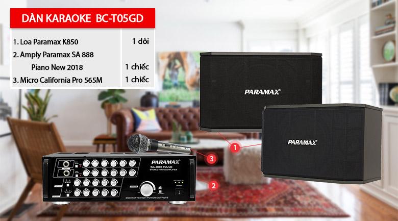 Bộ dàn karaoke BC-T05GD giá rẻ
