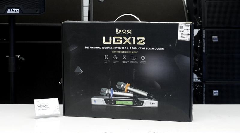 Hộp sản phẩm micro không dây BCE UGX12 Luxury lịch sự, sang trọng