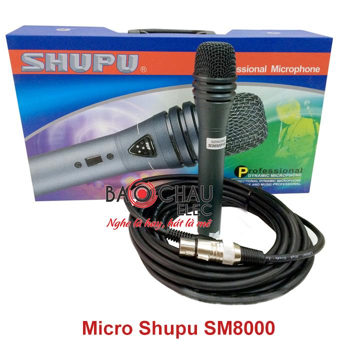 Micro có dây Shupu SM 8000 hiện đại, chính hãng, giá rẻ