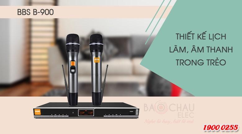 Micro karaoke BBS B900 thiết kế sang trọng, chất âm trong trẻo