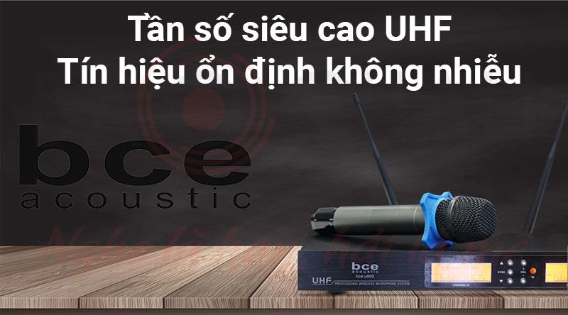 Micro không dây BCE U900 (Version 2) thiết kế đẹp, sang trọng