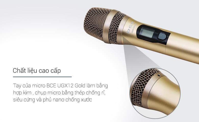 Tay micro không dây BCE UGX12 Gold thiết kế đẹp mắt
