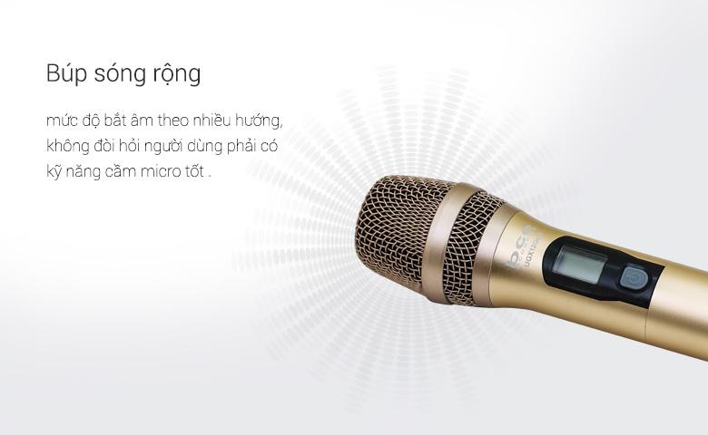 Micro không dây BCE UGX12 Gold sở hữu búp sóng rộng