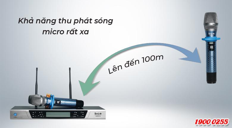 Micro không dây BCE UGX12 Luxury có khả năng thu phát sóng lên tới 100m