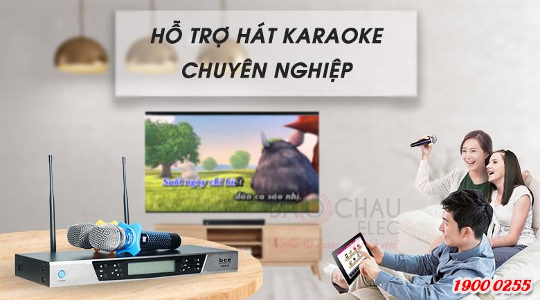Micro không dây BCE UGX12 Luxury là sản phẩm micro karaoke cao cấp