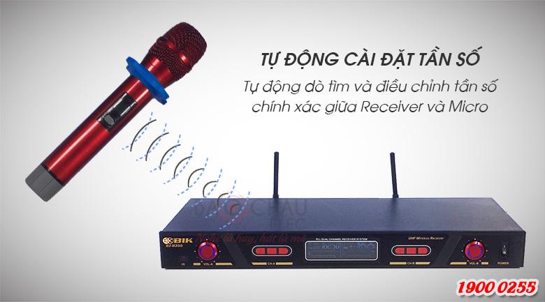 Micro không dây BIK BJ-U355 tự động cài đặt tần số thông minh