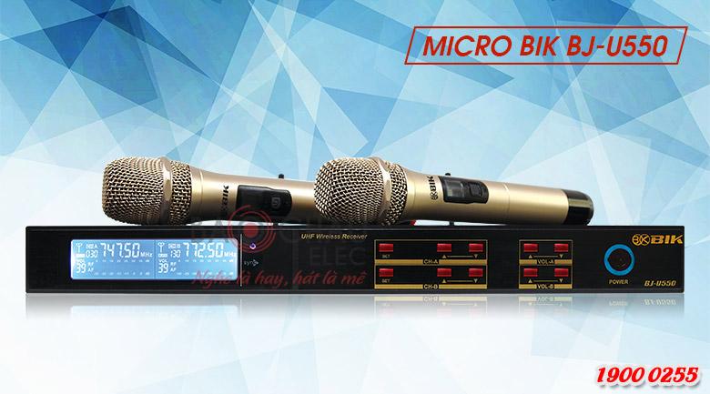 Micro không dây BIK BJ-U550 chính hãng, hiện đại