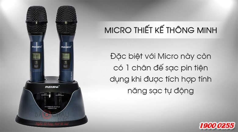 Micro không dây Paramax pro 8000 new chính hãng, giá rẻ