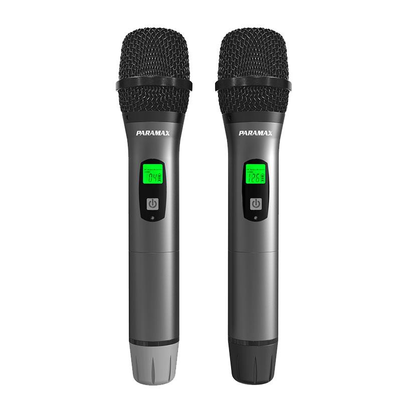 Micro Paramax SM1000 Smart với 2 tay cầm mic bền đẹp, chắc chắn