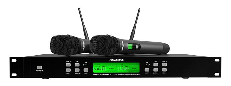 Micro Paramax SM1000 Smart gồm 1 đầu thu và 2 tay micro