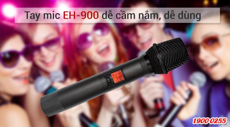 Micro không dâyRelacart EU-900MHdễ dàng cầm nắm
