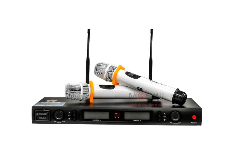 Micro không dây Shure UGX8 hiện đại, giá rẻ nhất